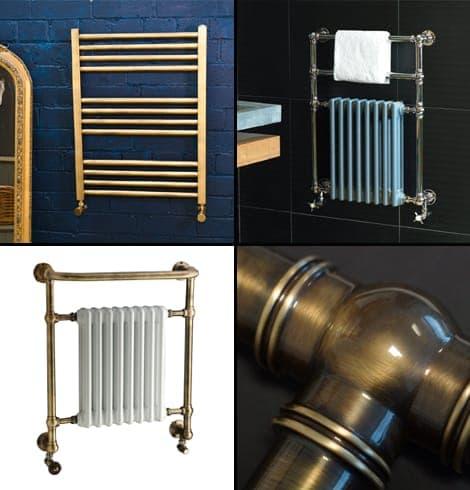 Brass towel rails