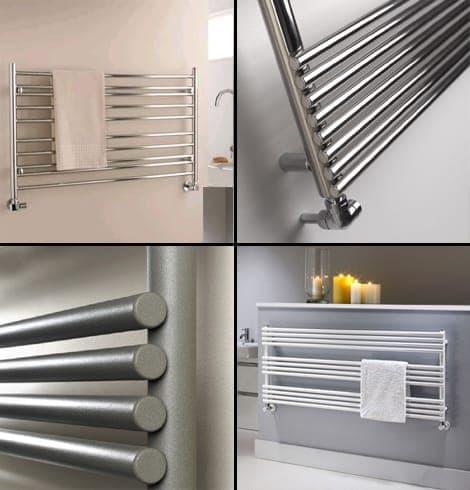 Short, wide towel rails