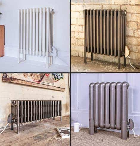 Electric steel column radiators