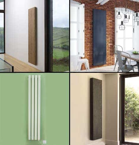 Electric vertical radiators