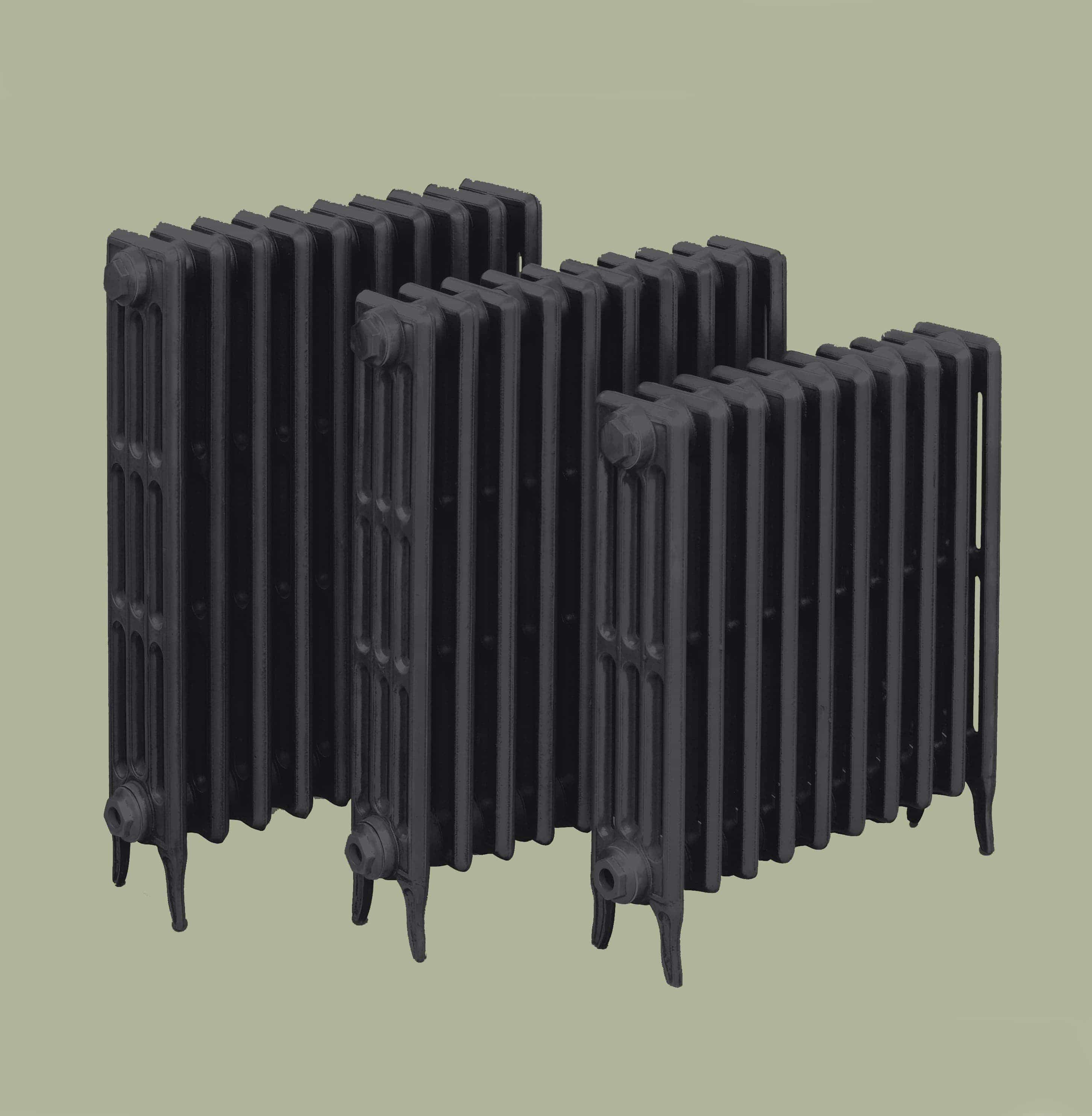 Victorian 4 Cast Iron Radiators (460mm to 760mm high)