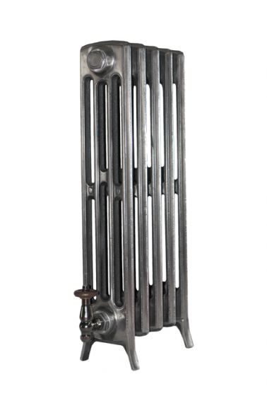Forge 4 column cast iron radiator in clear lacquer finish