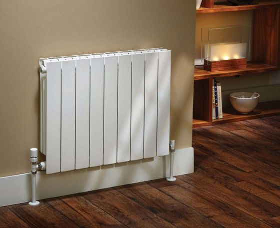 Alchemy aluminium radiator in white
