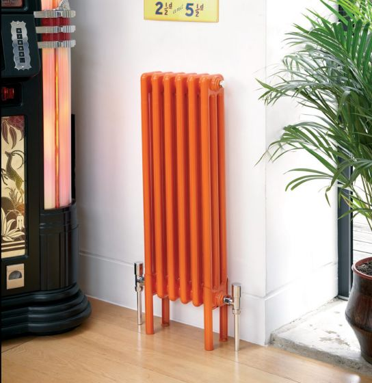 Colori column radiator in orange