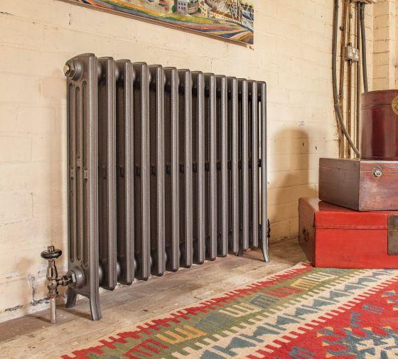 Etonian cast iron radiator in gun metal