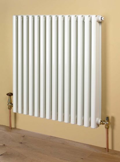 Retro aluminium radiator in white