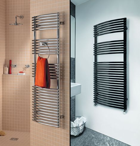 Robin bow-fronted towel rail collage