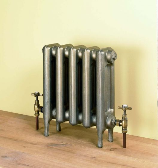 Edwardian 2 450mm high cast iron radiator in Old Gold