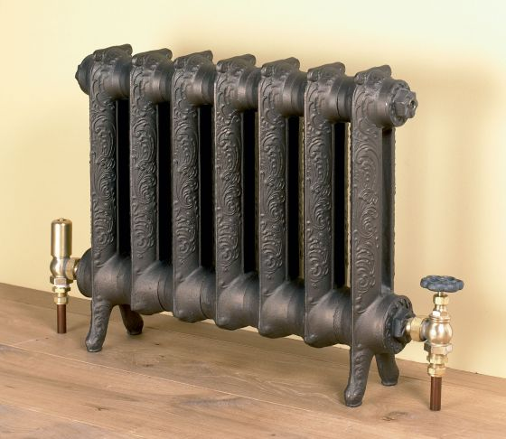 Rococo cast iron radiator in Old Bronze