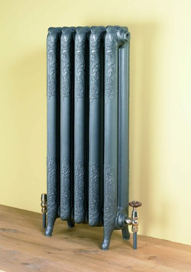 Liberty 954mm high cast iron radiator in Gun Metal