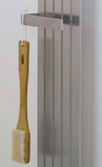 Zermatt towel radiator in brushed stainless steel