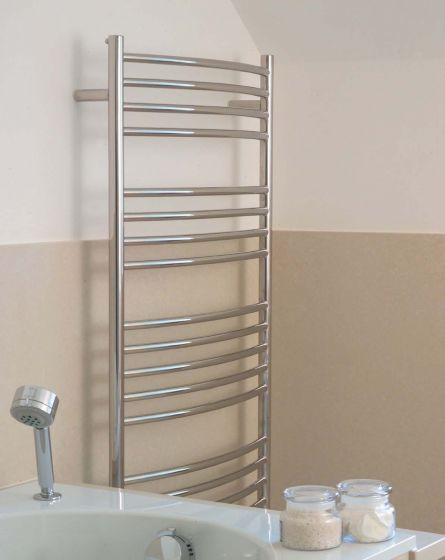 Alpine towel warmer - bow-fronted