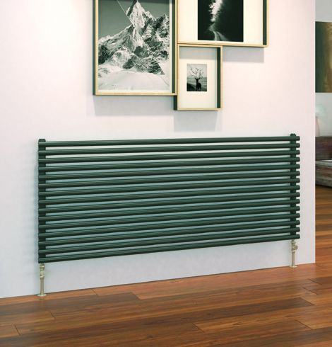 Cirque horizontal radiator in dark grey