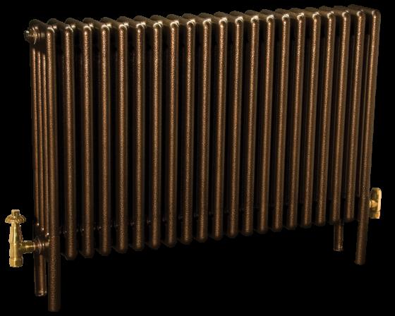 4 column deep Colori column radiator in Historic Gold mottled finish