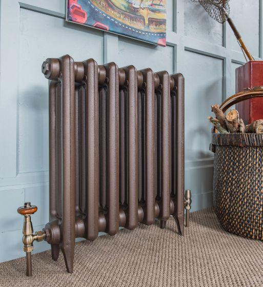Edwardian 2 cast iron radiator in Old Bronze