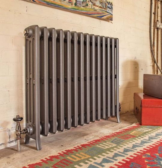Etonian 4 760mm high x 14 sections cast iron radiator in Old Florin Grey