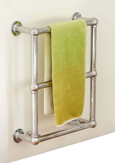 Ingleton traditional stainless steel towel rail