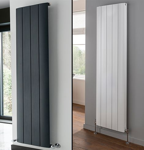 Stag vertical radiators in dark grey and white