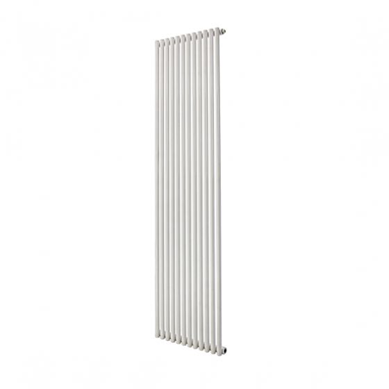 Tutti Sitar single vertical tube radiator in white