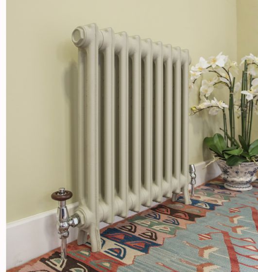 Wilberforce 2 column cast iron radiator in French Grey