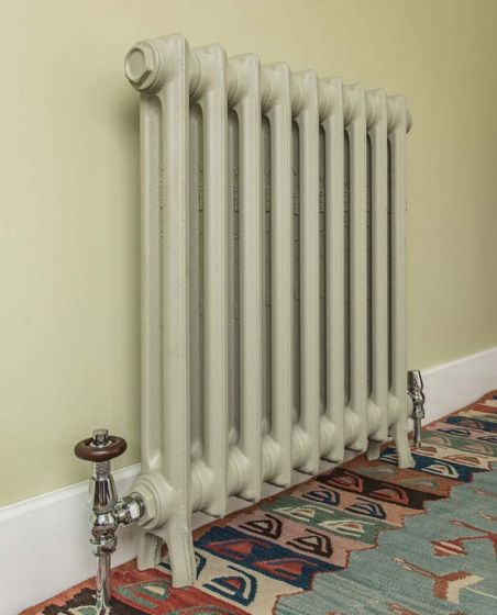 Wilberforce 2 column cast iron radiator in match to Farrow & Ball French Grey