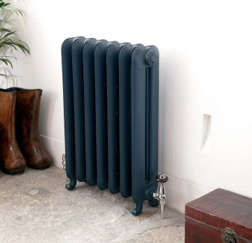 Gladstone-radiator in-colour matched to Farrow & Ball Hague Blue