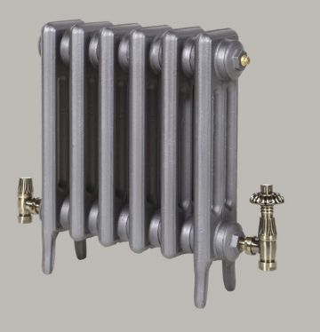 Victorian 3 Column 450mm high radiator in Old Pewter