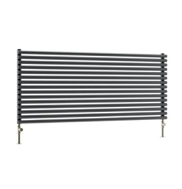 Cirque horizontal towel radiator in dark grey