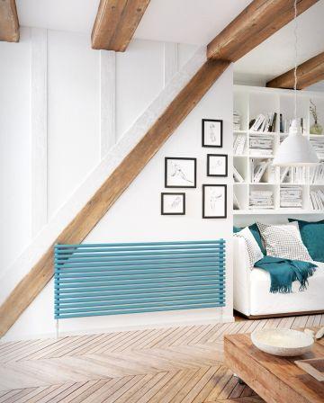 Cirque vulcano horizontal radiator in blue