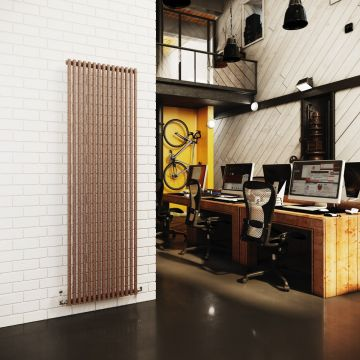 Cirque vulcano vertical radiator in mottled copper