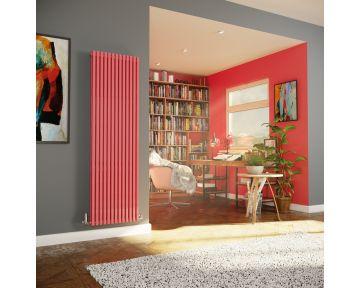 Cube Tube vertical radiator in pink