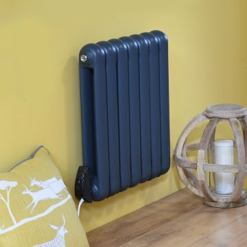 Pod electric designer radiator in anthracite grey