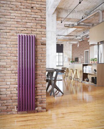 Ellipse vertical radiator in purple
