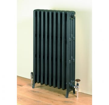 Etonian cast iron radiators, 960mm high in anthracite black