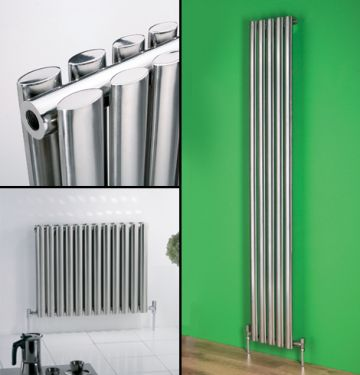 Oval stainless steel radiator collage