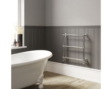 Asquith wall-mounted traditional towel rail