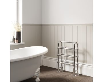 Gilstead floor-standing heated towel rail