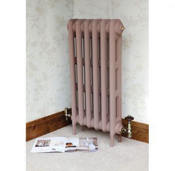 Titus cast iron radiator in Farrow & Ball Setting Plaster