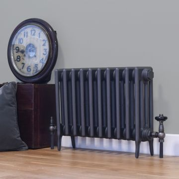 Victorian 4 cast iron radiator, 460mm high in Old Florin Grey