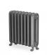 Gladstone cast iron radiator 570mm high Old Pewter