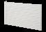 Tutti single radiator with horizontal tubes