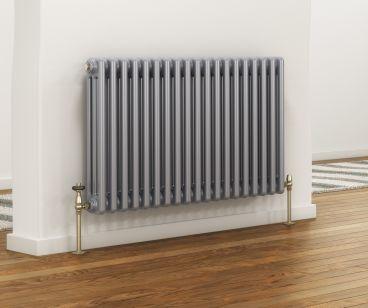 Colori column radiator in silver