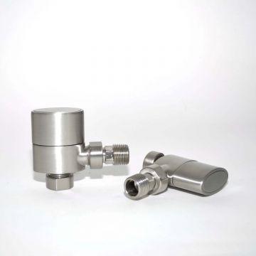 Ellipse manual valves in brushed nickel