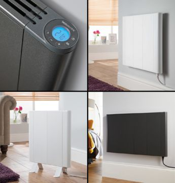 Slimline Curve electric radiators collage copy