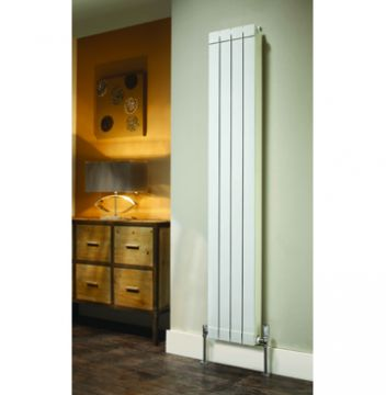 Tall Alchemy radiator in white with optional end panels