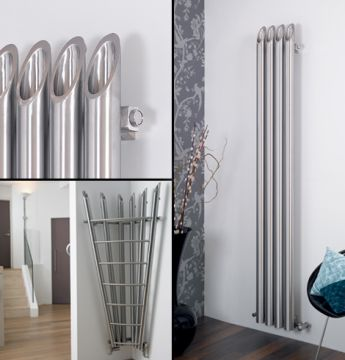 Bamboo stainless steel radiators - vertical and corner models