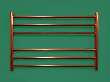 Capa towel rail in copper lacquer finish