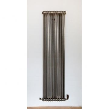 Core column radiator in bare steel - 1.8m high