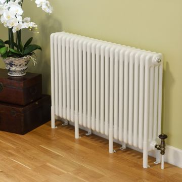 Core column radiator, 600mm high x 3 columns deep, wall-mounted