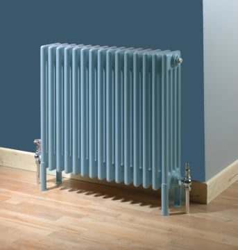 Core column radiator in blue